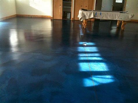 navy blue stained concrete floor home stains coral walls and a b c