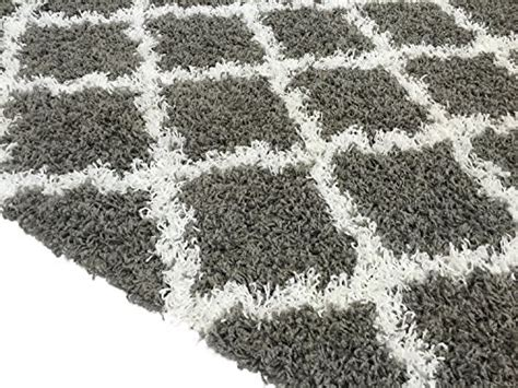 shaggy collection rugs shaggy collection trellis shag area rug rugs grey 5x7 ebay