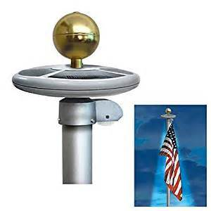 best solar flagpole light 20 led solar powered garden decor light top