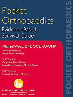 libro evidence pocket orthopaedics evidence based survival guide isbn 9780763750756 efisioterapia