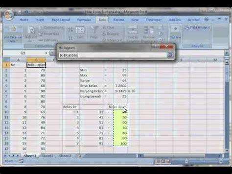 panduan membuat database dengan excel 2007 cara membuat grafik histogram dengan excel 2007 membuat