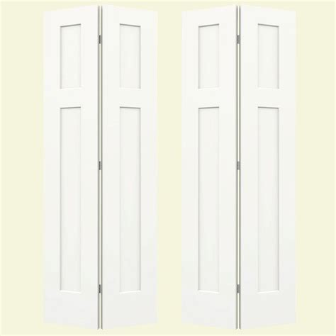 72 X 80 Closet Doors by Jeld Wen 72 In X 80 In Craftsman White Painted Smooth