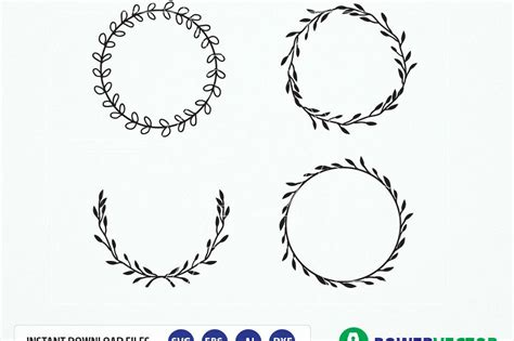 Laurel Wedding Clipart by Vintage Laurel Wreath Clipart Laurel W Design Bundles