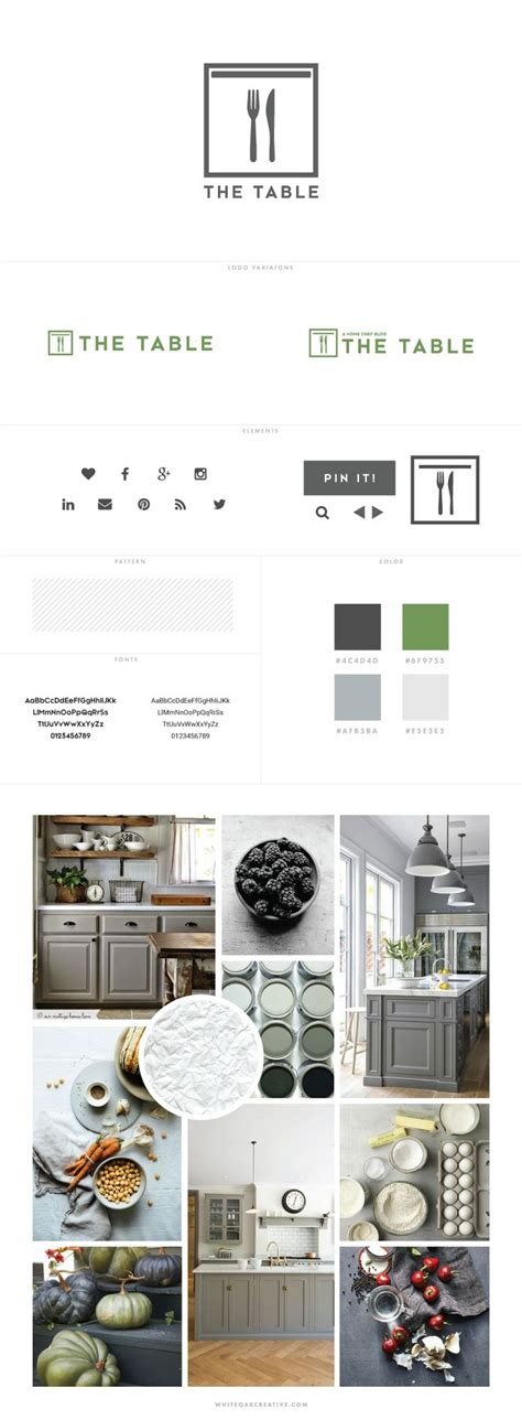 the creative house moodboard lauren carns the table by home chef custom blog design visual