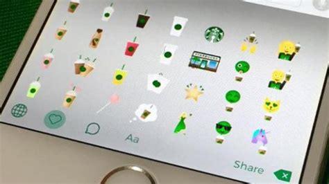 Keyboard Techno Malang starbucks rilis emoji bertema kopi di androd dan ios tribunnews