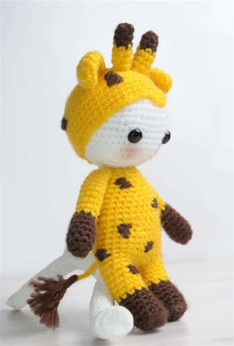 giraffe pattern clothes amigurumi doll in giraffe costume amigurumi today