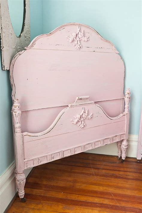 pink bed headboard pink shabby chic distressed antique twin by