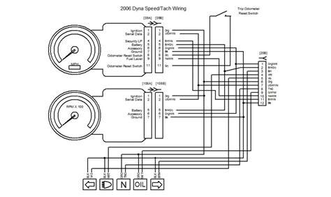 harley mini tachometer wiring diagram get free image