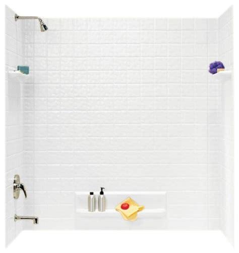 shop houzz swan swan 32x60x59 625 veritek bathtub wall