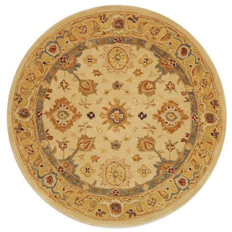 area rugs 8 ft safavieh anatolia ivory gold 8 ft x 8 ft area rug an546b 8r the home depot
