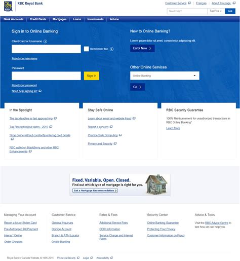 royal bank of canada login rbc 174 banking rbc