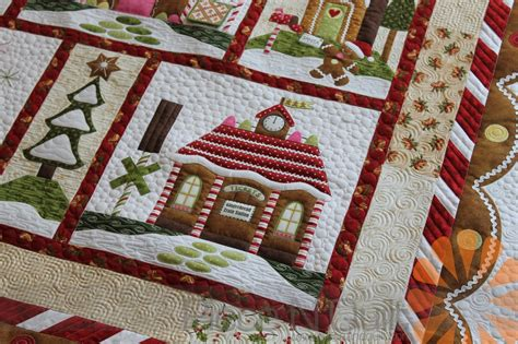 patterned coverlets piece n quilt gingerbread village quilt custom machine