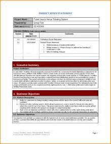 project scope statement template project scope statement exle 6074177 png letter