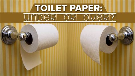 how to hang toilet paper toilet paper over or under debate resolved via 1891