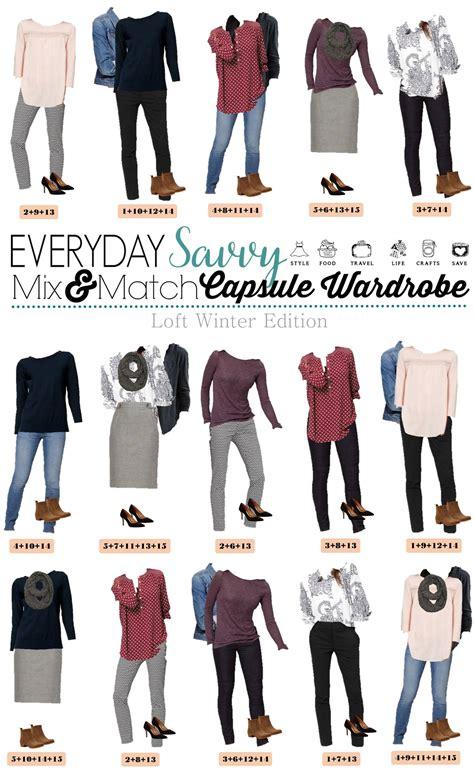 loft winter capsule wardrobe mix match