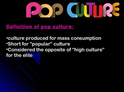 pop the exchange of consumerism and culture pop culture and the media