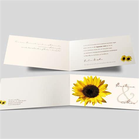 Hochzeitseinladung Gelb by Hochzeitseinladung Die Sonnenblume