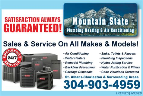 exclusive ad mountain state plumbing heating air