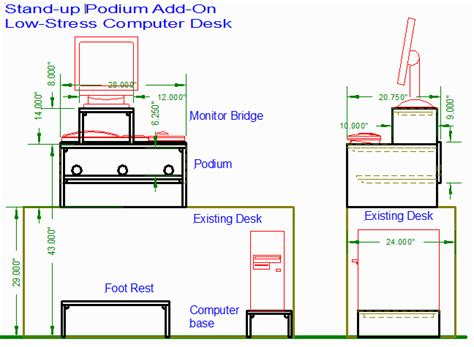standing desk plans lowes pdf diy standing computer desk plans download standing