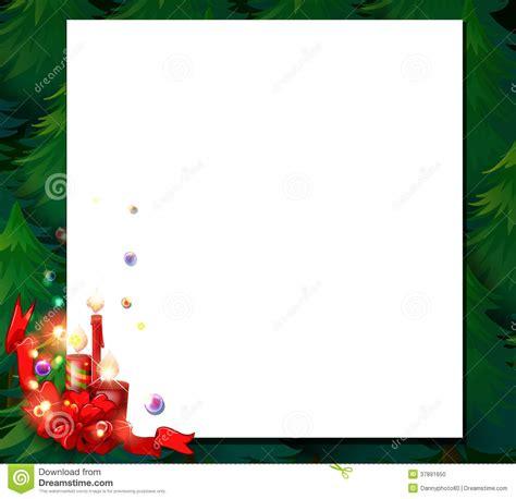 an empty christmas card template stock vector image