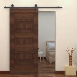 homcom 6ft interior sliding wood barn door track kit