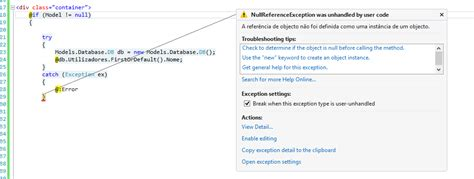 layout null in mvc asp net mvc nullreferenceexception on an object not null