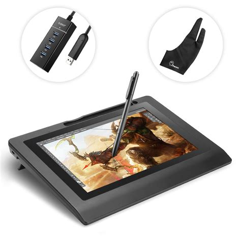 10 inch battery parblo coast10 10 1 art design usb graphic tablet monitor