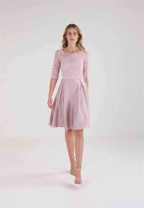 swing cocktailkleid rosa swing cocktailkleid festliches kleid rosa zalando de
