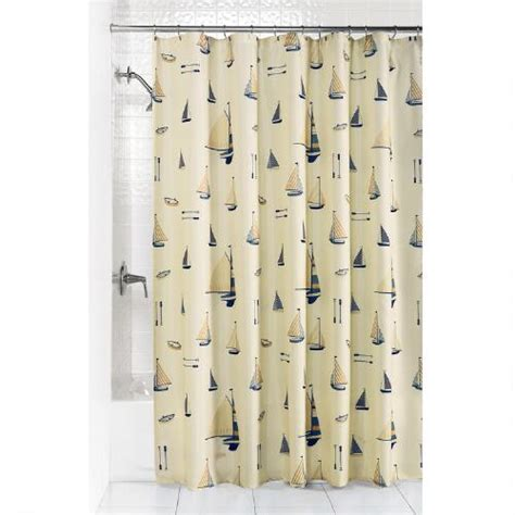 sailboat shower curtain sailboat fabric shower curtain christmas tree shops andthat