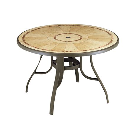 Louisiana Quot Pietra Decor Quot 48 In Round Dining Table With Patio Table Legs
