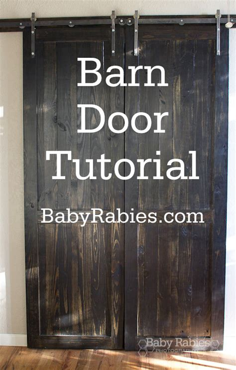 How To Build A Barn Style Door Jeca Building Barn Doors Plans