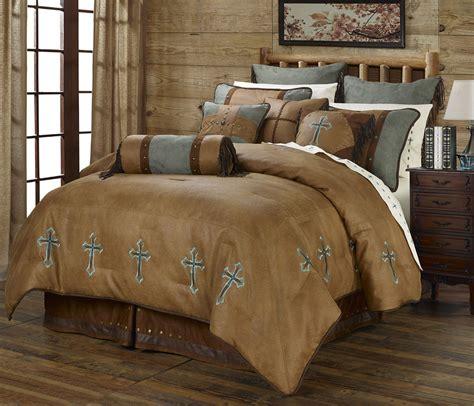 Western Style Bedding Sets Turquoise Cross Western 5 Comforter Bedding Set With Sheet Option Ebay