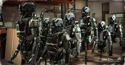 film robot vancouver elysium gold armadyne robot prop by weta the propstop