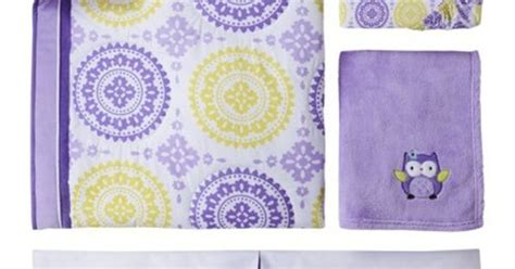 purple medallion bedding circo 4pc crib bedding set purple medallion green its