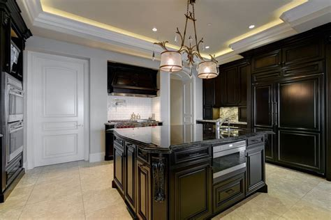 Black Cabinets With Black Granite Countertops by 35 Luxury Kitchens With Cabinets Design Ideas