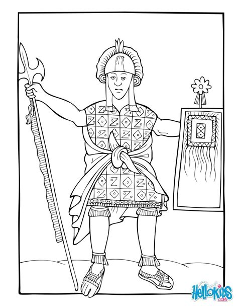 Huayna Capac Coloring Pages Hellokids Com Inca Coloring Pages