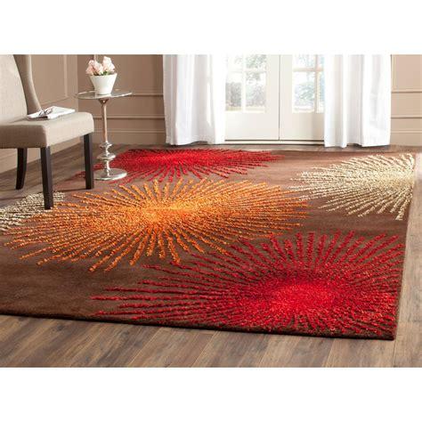10 ft wool rug safavieh soho brown multi wool 8 ft x 10 ft area rug