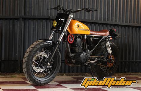 Peninggi Shock Depan Yamaha Byson modifikasi honda gl100 1988 tracker hadiah untuk