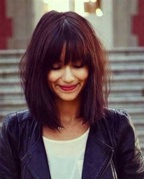 bob hairstyles with long bangs 25 bob haircuts with bangs bob hairstyles 2017 short