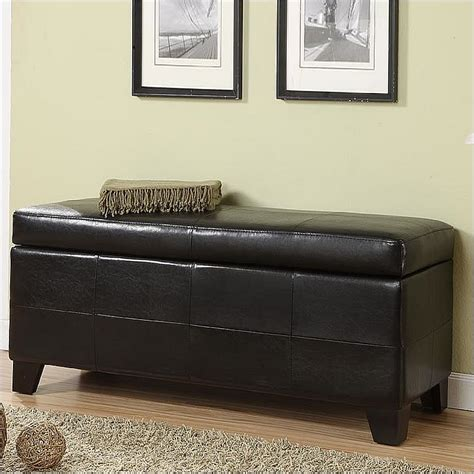 storage bench bedroom modus upholstered blanket storage bench black leatherette bedroom benche ebay