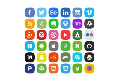 imagenes animadas para redes sociales 36 iconos de redes sociales en cuatro estilos gratis