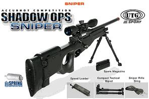 Utg Robot powered bolt airsoft sniper rifle utg type l96 mk96 shadow ops competition fires