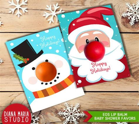 Eos Reindeer Card Free Template by Diy Gift Eos Lip Balm Card Templates Note Eos