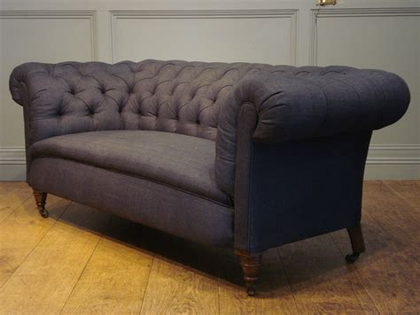 Reupholstered Antique Sofa 19c Chesterfield Antique Chesterfields