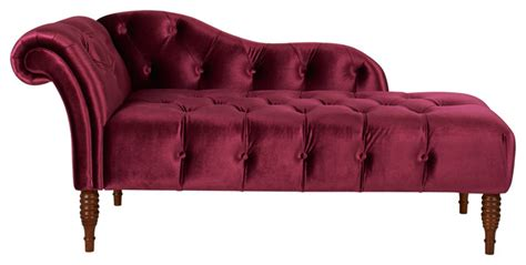 burgundy chaise lounge chaise lounge right arm facing burgundy hand tufted