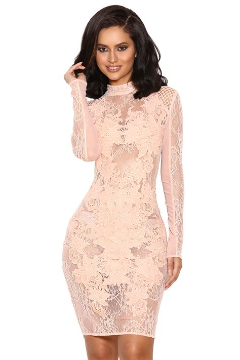 Mesh Sleeve Dress clothing bodycon dresses gialla mesh and lace