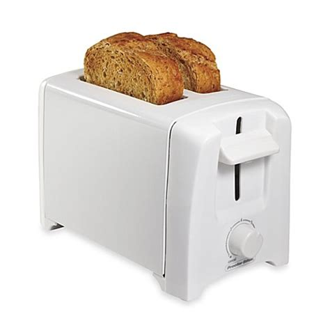 bed bath beyond toaster proctor silex 174 2 slice extra wide slot toaster in white