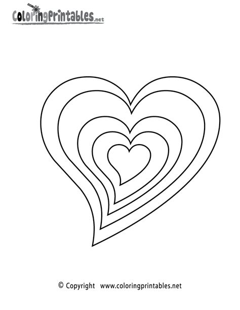 free printable coloring pages with hearts free printable hearts coloring page