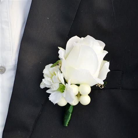Wrist Corsage Groom Brooch Boutonniere Pin Bunga Bridesmaid 4 popular ivory corsage buy cheap ivory corsage lots from