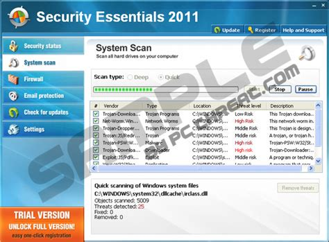 remove security essentials 2011
